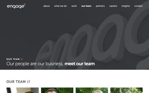 Screenshot of Team Page madetoengage.com - Meet The Engage Team - captured Dec. 9, 2015
