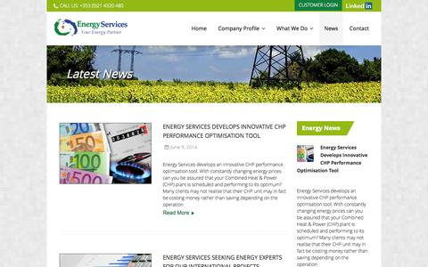 Screenshot of Press Page energy.ie - Energy Consumption-Energy Assessment-Energy Strategy-Energy Services - captured Oct. 2, 2014