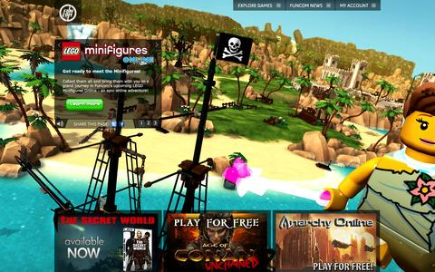 Screenshot of Home Page funcom.com - funcom.com | Action Adventure and Massively Multiplayer Online Games (MMOG) - captured Sept. 19, 2014