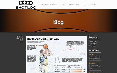 Screenshot of Blog Press Page shotloc.com - Blog | Shotloc - captured Jan. 31, 2016