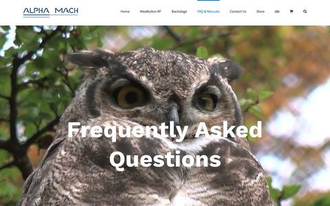 Screenshot of FAQ Page alphamach.com - FAQ - Alpha Mach - FAQ, questions, answers - captured Oct. 3, 2018