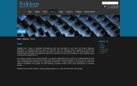 Screenshot of Team Page rajdeep.co.in - People - Rajdeep - captured Oct. 7, 2014