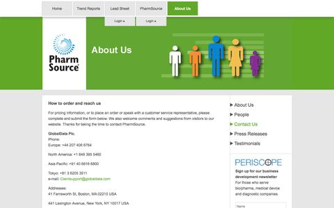 Screenshot of Contact Page pharmsource.com - Contact Us | PharmSource - captured Sept. 16, 2018