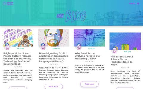 Screenshot of Blog peoplepattern.com - Blog | People Pattern - captured May 9, 2017