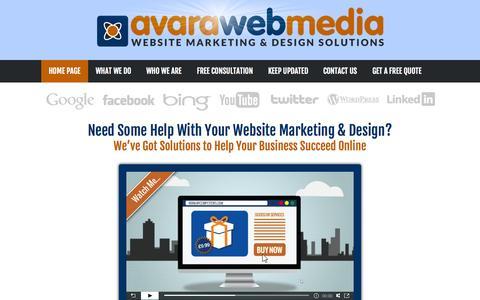 Screenshot of Home Page avara.co.uk - UK Website Marketing & Design Company   Avara Web Media - captured Oct. 4, 2014