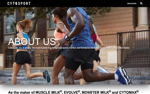 Screenshot of About Page cytosport.com - About Us | Cytosport™ - captured Sept. 24, 2018