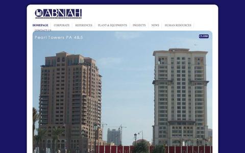 Screenshot of Home Page abniah.com - Abniah - captured Feb. 5, 2016