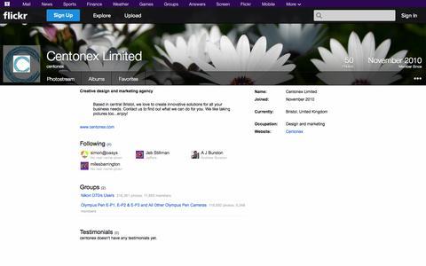 Screenshot of Flickr Page flickr.com - Flickr: centonex - captured Oct. 22, 2014