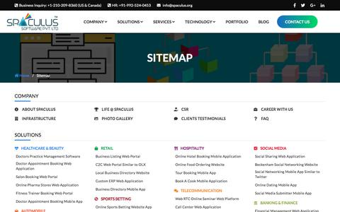 Screenshot of Site Map Page spaculus.org - Sitemap - Spaculus - captured July 5, 2018