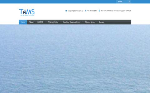 Screenshot of Home Page tams.com.sg - TAMS - The Ark Marine Solutions | TAMS - The Ark Marine Solutions - captured Oct. 6, 2014