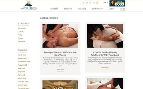 Massage Therapist Job Blog | Massage Heights Career| Massage Heights Careers