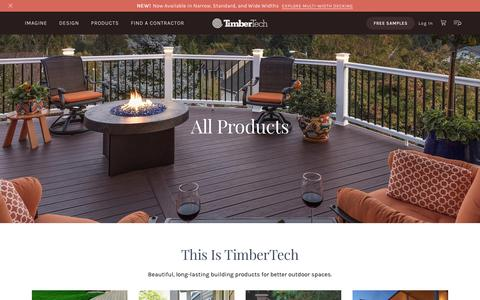 Screenshot of Products Page timbertech.com - Products | TimberTech - captured Feb. 2, 2019