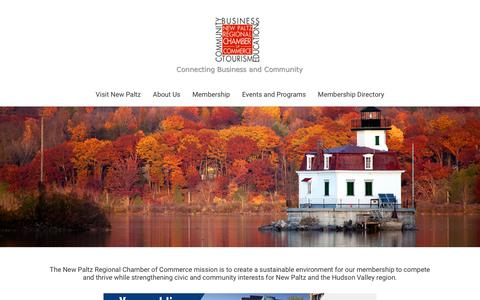 Screenshot of Home Page newpaltzchamber.org - New Paltz Regional Chamber of Commerce | New Paltz, NY 12561 - Home - captured Nov. 18, 2016