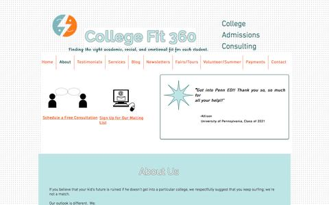 College Fit 360, College Admissions Consulting Los Angeles- About