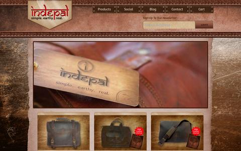 Screenshot of Home Page indepal.com.au - Indepal Leather Bags. simple. earthy. real. - captured Sept. 30, 2014