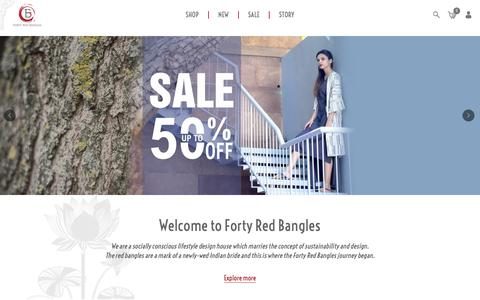 Screenshot of Home Page fortyredbangles.com - Forty Red Bangles - captured Aug. 17, 2018