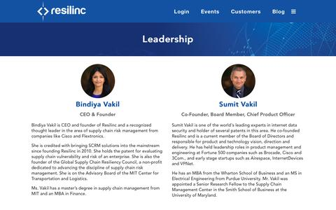 Screenshot of Team Page resilinc.com - Supply chain risk management experts, leading technologists, thought leaders - captured Nov. 17, 2018