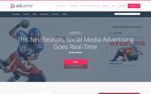 Screenshot of Press Page adparlor.com - News Archives | AdParlor - captured Nov. 20, 2016