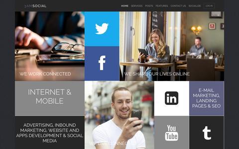 Screenshot of Home Page 3amsocial.com - Msocial » Premium Wordpress Theme - captured Oct. 7, 2014