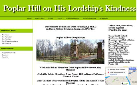 Screenshot of Maps & Directions Page poplarhillonhlk.com - Poplar Hill on His Lordship's Kindness - captured June 22, 2016