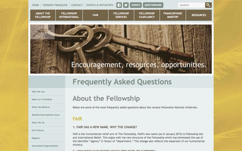 Screenshot of FAQ Page fellowship.ca - Fellowship.ca - Frequently Asked Questions - captured Nov. 25, 2016