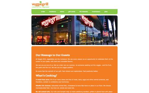 Screenshot of About Page veggiegrill.com - About Us | VeggieGrill - captured Feb. 8, 2016