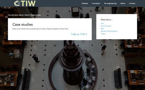 Screenshot of Case Studies Page tiwgroup.com - Case studies - captured Nov. 4, 2014