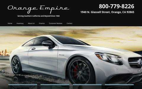 Screenshot of Home Page orangeempire.com - Pre-owned Car Dealer | Orange Empire | Orange County, CA - captured Feb. 14, 2016
