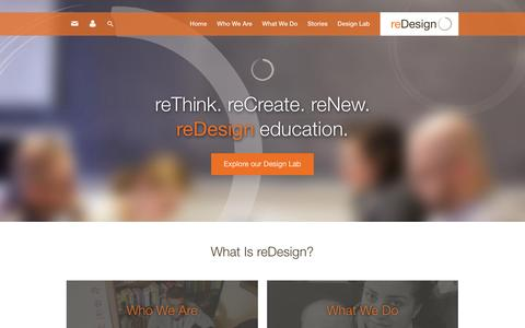 Screenshot of Home Page redesignu.org - Home   reDesign - captured Sept. 4, 2015