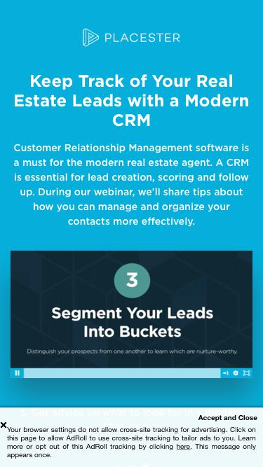 Keep Track of Your Real Estate Leads with a Modern CRM | Placester