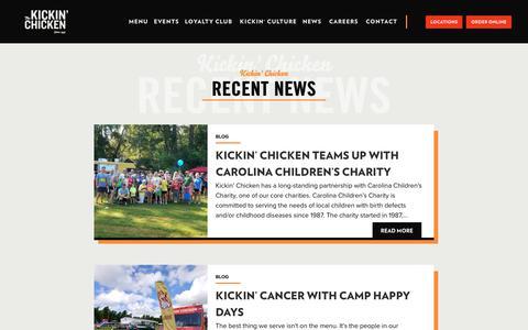 Screenshot of Press Page kickinchicken.com - News - The Kickin' Chicken - captured Nov. 9, 2019