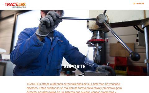Screenshot of Support Page tracelec.com - Tracelec - captured Oct. 2, 2018