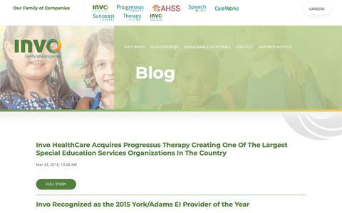 Screenshot of Blog invocompanies.com - Blog - captured July 8, 2018