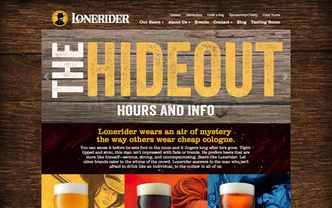 Screenshot of Home Page FAQ Page loneriderbeer.com - Lonerider: Ales for Outlaws - captured Dec. 1, 2015