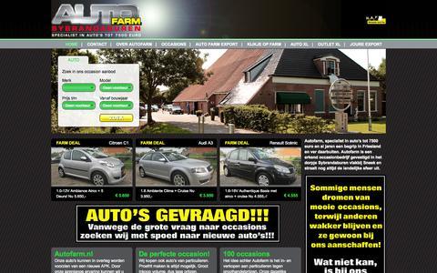 Screenshot of Home Page autofarm.nl - voor occasions met luxe en comfort»Home» Autofarm.nl - captured Sept. 30, 2014