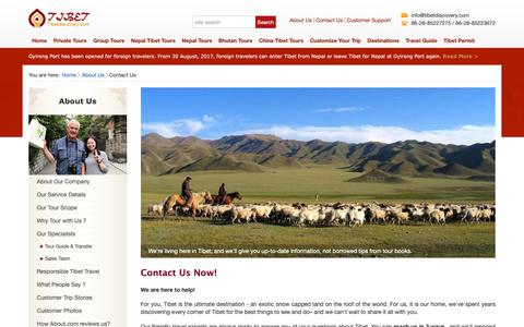 Screenshot of Contact Page tibetdiscovery.com - Reliable Tibet Tours Operator – Contact Tibet Discovery - captured Nov. 18, 2018