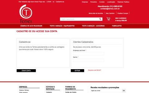 Screenshot of Login Page temex.com.br - Login de Cliente - captured Feb. 24, 2016