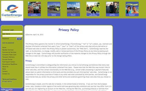 Screenshot of Privacy Page carterenergy.com - CarterEnergy - captured Dec. 2, 2016