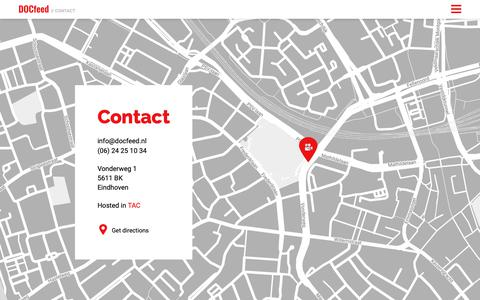 Screenshot of Contact Page docfeed.nl - DOCfeed documentaire festival - captured Oct. 7, 2018