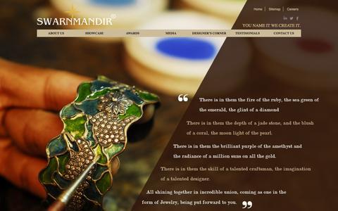 Screenshot of Home Page swarnmandir.com - Swarnmandir - captured Nov. 18, 2016