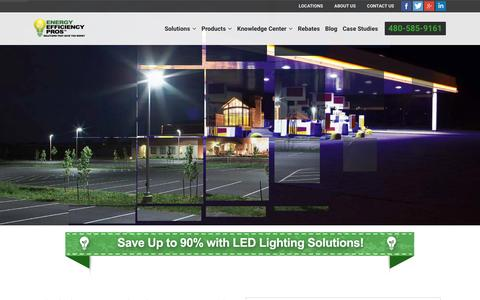 Screenshot of Home Page eepros.com - Commercial LED Lighting :: LED Lighting Dealer - captured Jan. 29, 2016