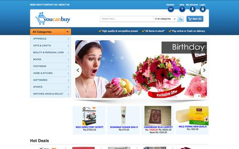Screenshot of Home Page youcanbuy.in - Online Shopping in India|Online Shopping Store in India - captured Jan. 26, 2015