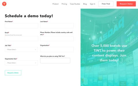 Request a Demo | TINT: Social Media Aggregator | Content Curation Platform