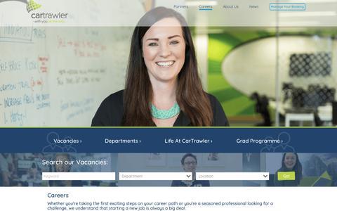 Screenshot of Jobs Page cartrawler.com - Careers at CarTrawler | Careers | CarTrawler - captured July 16, 2018