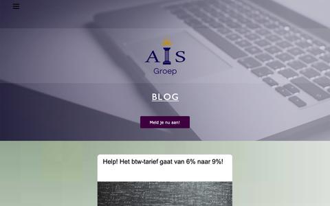 Screenshot of Blog ais-groep.nl - AIS-Blog - captured Dec. 4, 2018