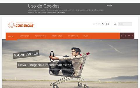 Screenshot of Home Page comerciis.com - Comerciis - captured Jan. 30, 2016