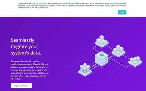 Screenshot of Services Page hart.com - Hart — Services / Data Migration - captured Nov. 1, 2018