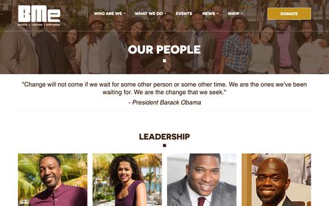 Screenshot of Team Page bmecommunity.org - Our People – BMe Community - captured Nov. 17, 2018