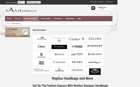 Screenshot of Products Page aaahandbags.nu - Replica Handbags – Inspired Bags & Purses - Designer Replica Handbags | - captured April 3, 2017