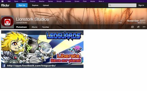 Screenshot of Flickr Page flickr.com - Flickr: Lionstork Studios' Photostream - captured Oct. 23, 2014